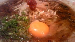 紀州湯浅吟醸醤油ラーメン+生卵