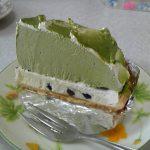 抹茶ケーキ。