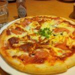 九沓でフレッシュトマトのピザ。
